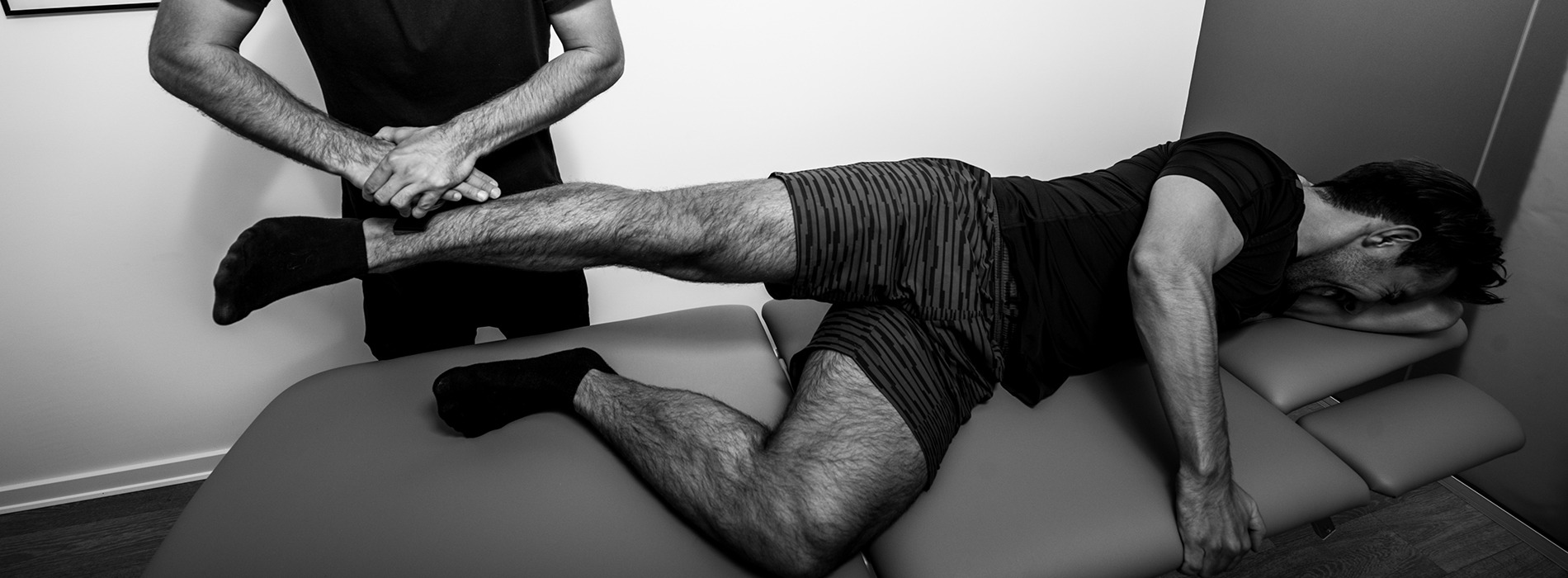 Test af muskler hos Sportsfysioterapien