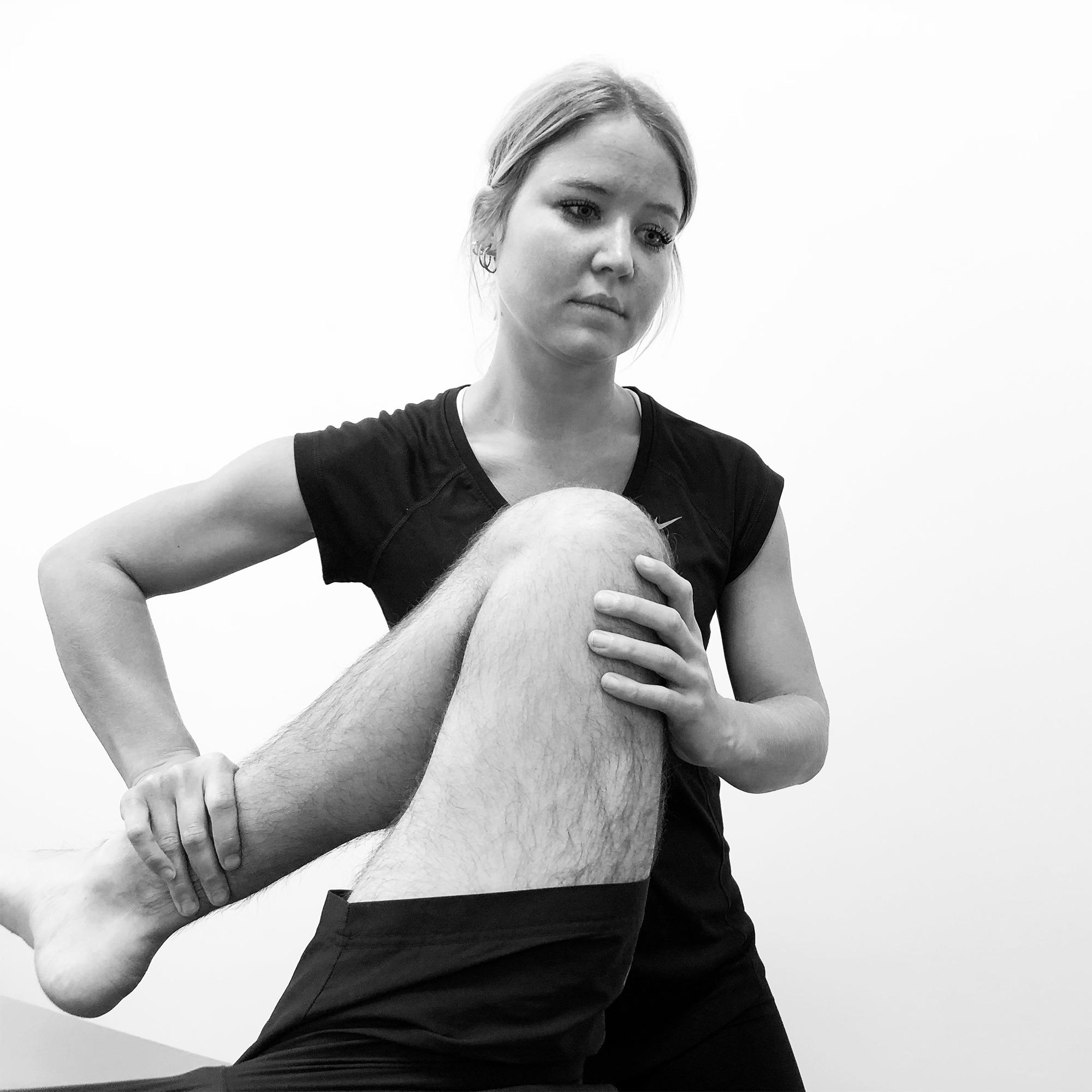 Caroline Reimers Holm hos Sportsfysioterapien